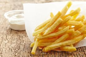 Greaseproof paper for serving french fries