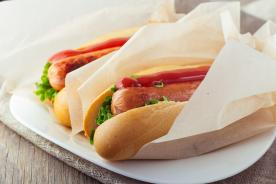 Greaseproof paper for serving hot dogs
