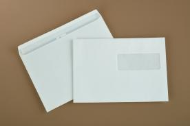 Envelopes with release and seal closure
